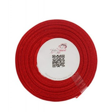 Ruban satin Rouge- 6mm * 25m