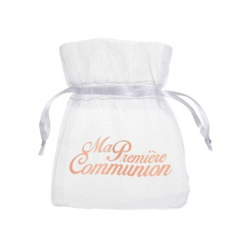 Sachet à dragées Communion Corail x6