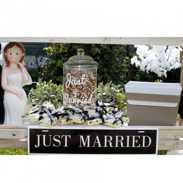 """PANCARTE """"JUST MARRIED"""""""