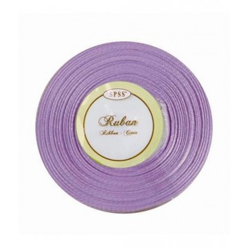 Ruban satin - Parme - 6mm * 25m