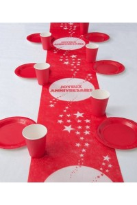 Chemin de table anniversaire Rouge