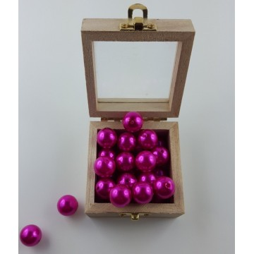 Lot de 50 perles décoration Fuchsia