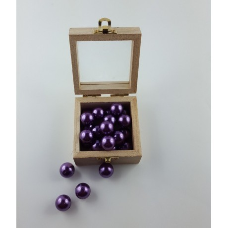 Lot de 50 perles décoration Lilas