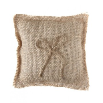 Coussin porte alliances naturel
