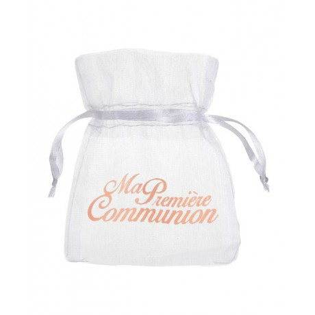 Sachet à dragées Communion Corail