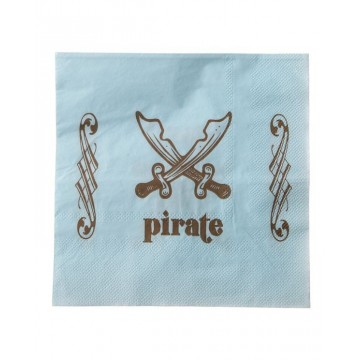 Serviette Pirate ciel x20