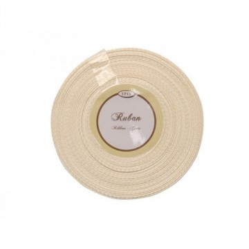 Ruban satin Ecru 6mm