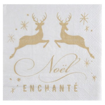 Serviette Noël Enchanté
