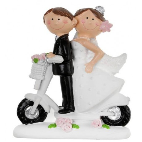 Figurine Mr & Mrs scooter