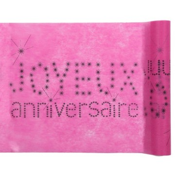 Chemin de table Anniversaire FUSCHIA