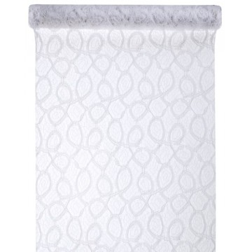 Chemin de table dentelle mat blanc