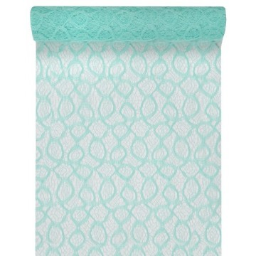Chemin de table dentelle mat mint