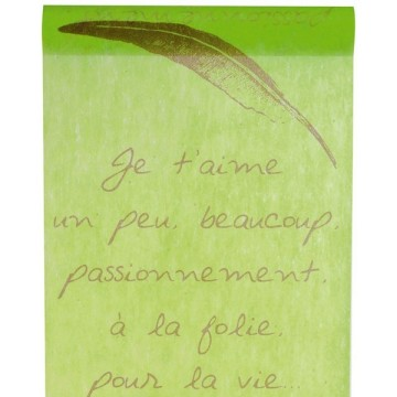 Chemin de table citations vert