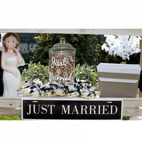 "PANCARTE ""JUST MARRIED"""
