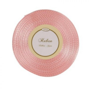Ruban satin Rose 6mm * 25m