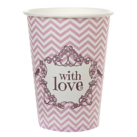 Gobelet en carton With love Rose