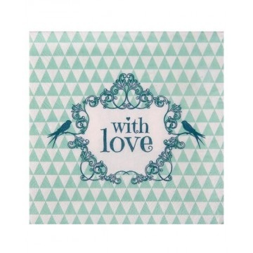 Serviette papier With love Vert  x20
