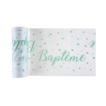 Chemin de table Baptême Mint