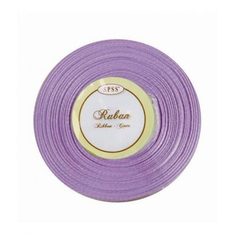 Ruban satin - Parme - 6mm