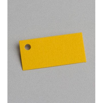 Étiquette à dragées rectangle jaune x6