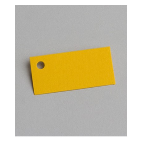 Étiquette à dragées rectangle jaune