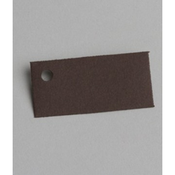 Étiquette à dragées rectangle chocolat x6