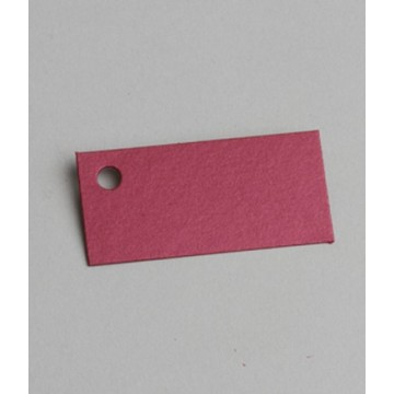 Étiquette à dragées rectangle nacrée rouge x6