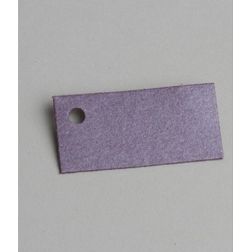 Étiquette à dragées rectangle nacrée Prune x6