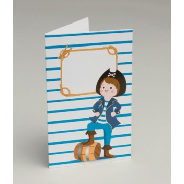 Invitation fille pirate + Enveloppe