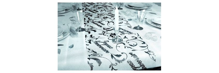Chemins de table anniversaire